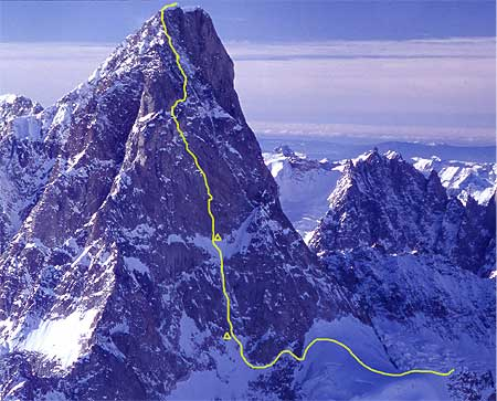 Grandes Jorasses, Monte Bianco, via Little Big Men