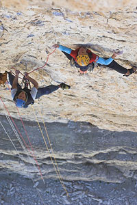 Ines Papert making the first female ascent of