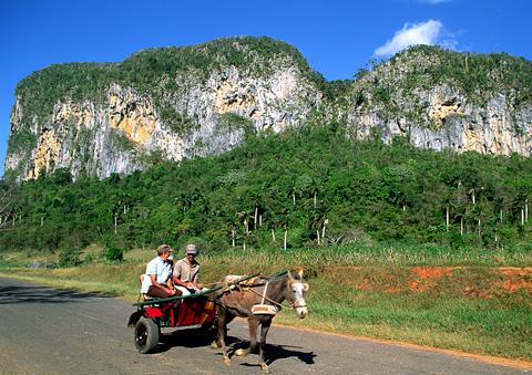 Rock climbing on Cuba
