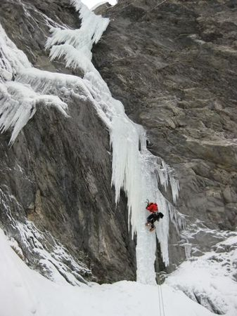 Ice climbing in Eastern Tirol, Austria