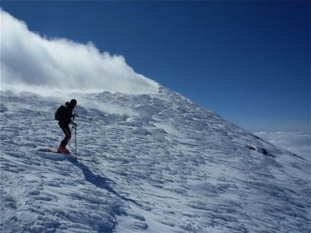 Scialpinismo sull'Etna in Sicilia