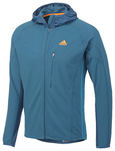 adidas Swift Cocona Hooded Fleece Jacket  Trekking Climbing Skiing Canyoning Via ferrata Mountaineering