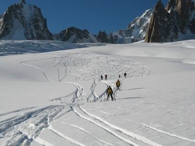Scopri il monte bianco sci ai piedi