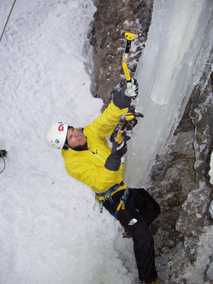 Approccio arrampicata  cascate di ghiaccio