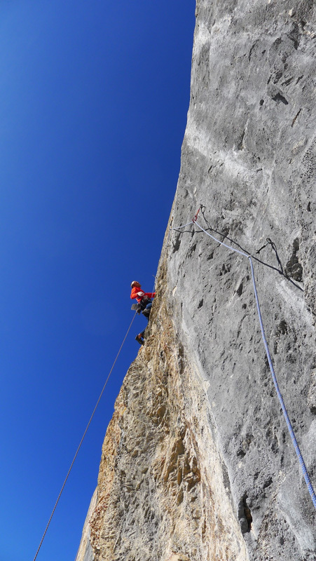 Reto Ruhstaller on pitch 3 of Ben Hur, Wendenstöcke, Bernd Rathmayr