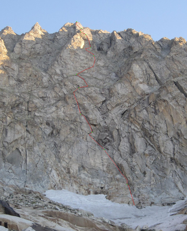 Via Sogni Erotici (500m, TD, V, VII) on the South Face of Carè Alto., Francesco Salvaterra