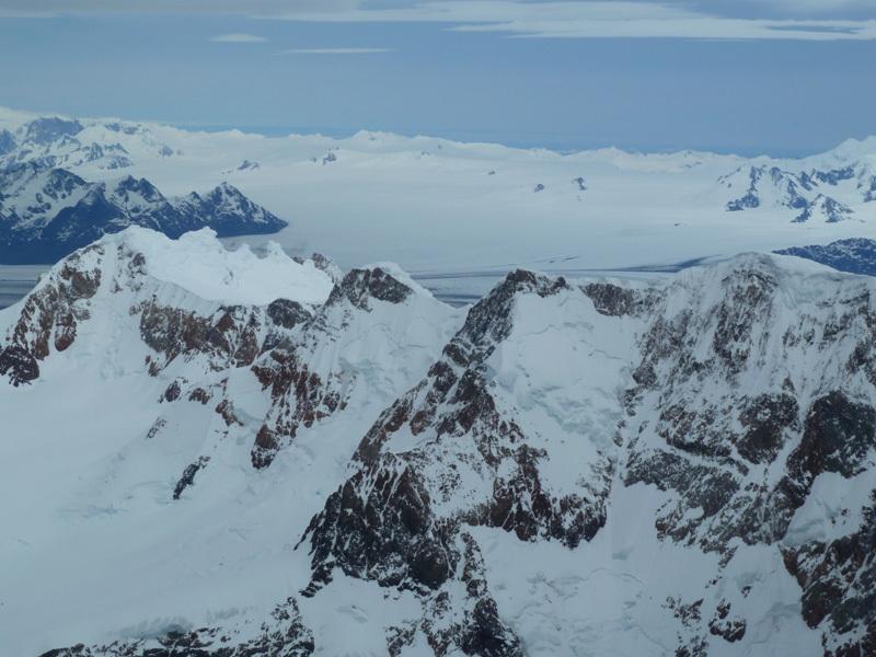 Cordon Adela, Glaciar Viedma e Hielo Continental Sur, dalla vetta, Marcello Sanguineti