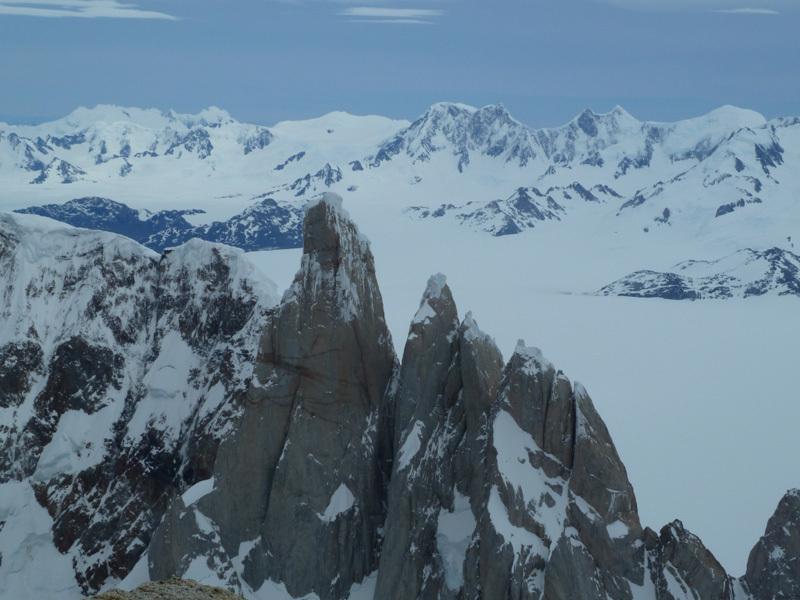 Gruppo del Torre, Hielo Continental Sur e Cordon Mariano Moreno, dalla vetta, Marcello Sanguineti