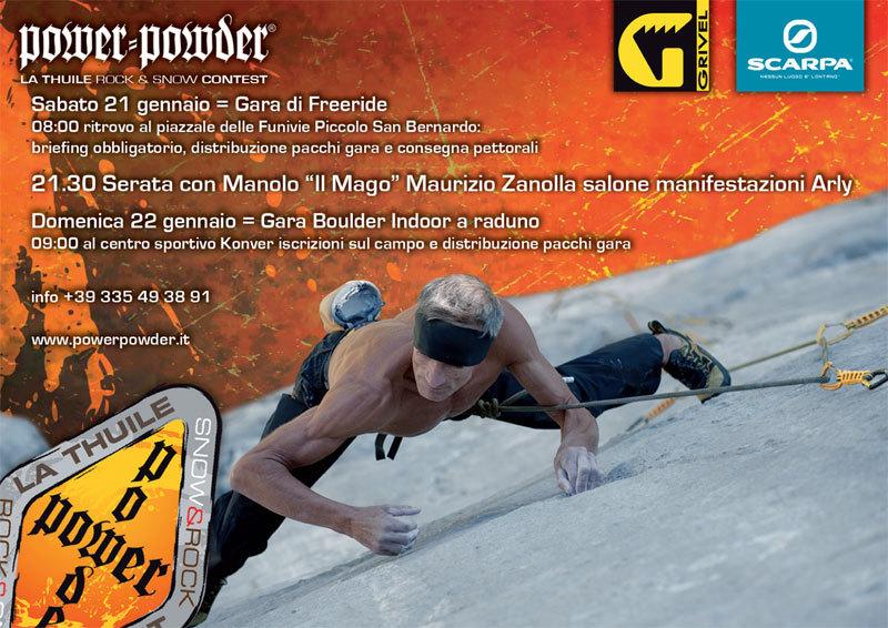 """Sabato 21 gennaio si terrà la conferenza di Maurizio Zanolla """"Manolo"""", climber, guida alpina e maestro d'arrampicata.,"""