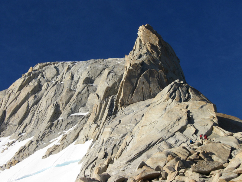 The North Ridge and summit seen from the col, Sergio De Leo