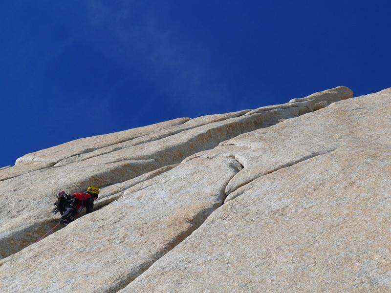Climbing pitch 3, Damiano Barabino