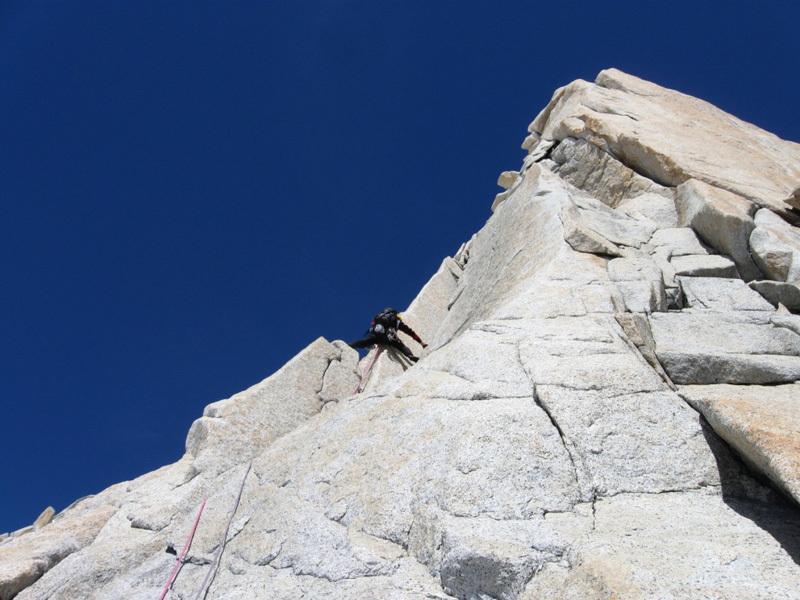 Climbing pitch 5, Sergio De Leo