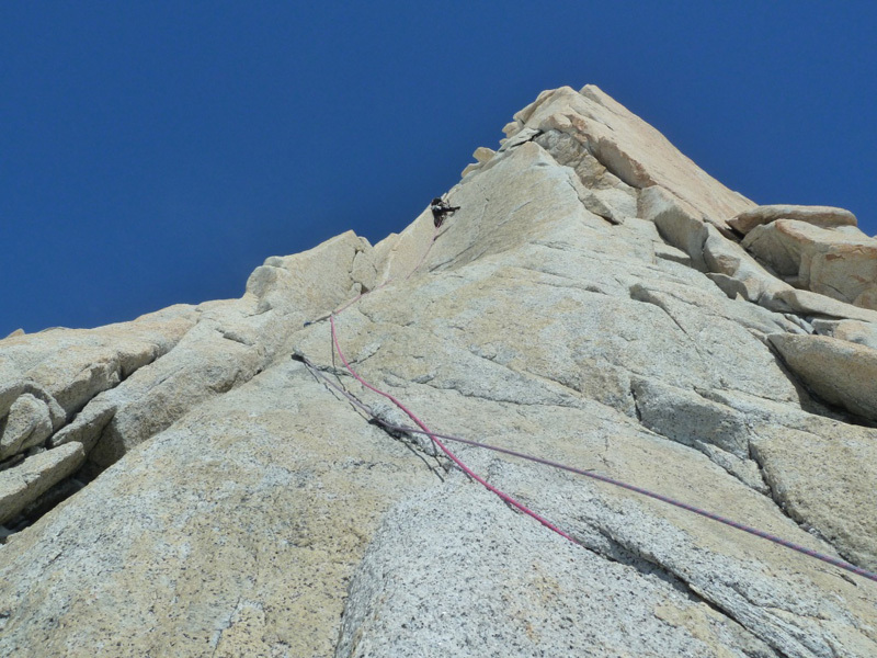 Climbing pitch 5, Marcello Sanguineti