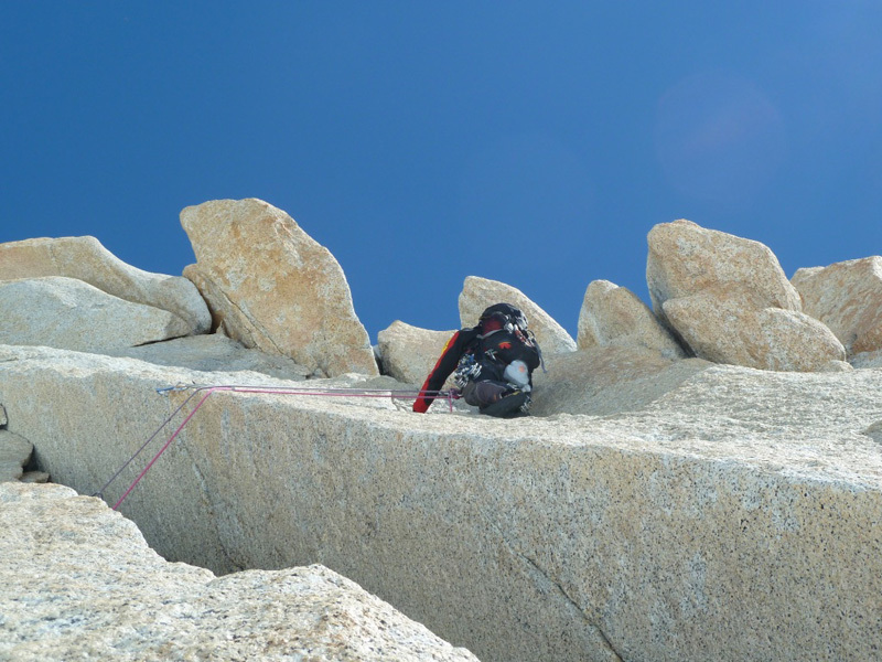 Climbing pitch 6, Marcello Sanguineti