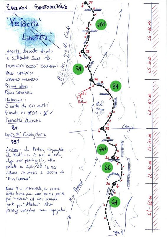 Velocità limitata (230m, 8a, 7b+ oblig), Sulzfluh, Rätikon., Ricky Felderer