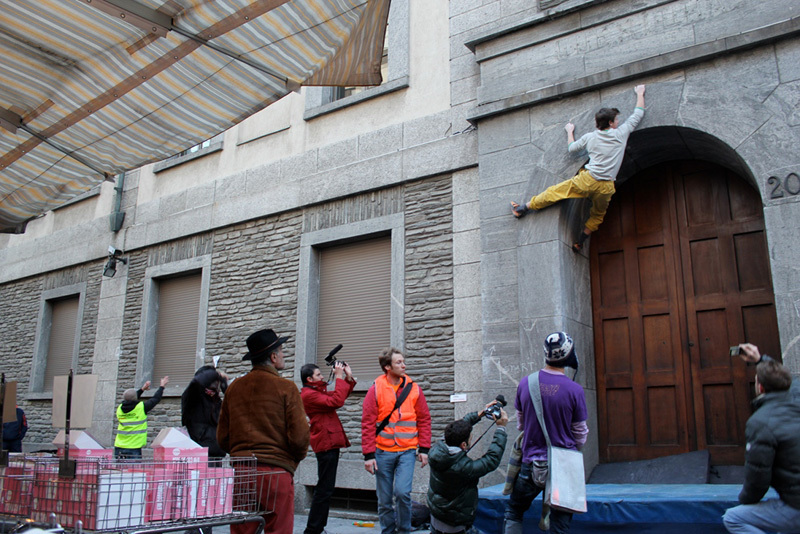 Sondrio Street Climbing 2011: la mela, Luca Maspes