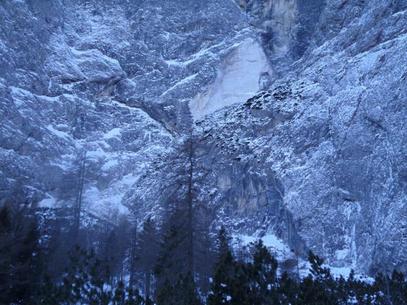 Il crollo sulla parete est del Sass Maor, Pale di San Martino, Dolomiti., Davide Depaoli