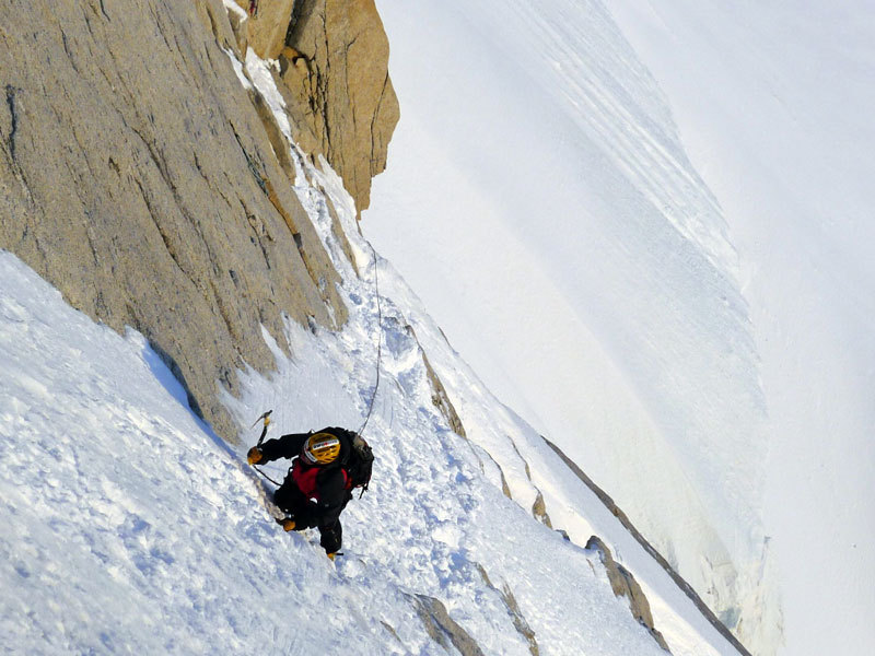 Aguja Poincenot, Patagonia. Sulla rampa, Damiano Barabino