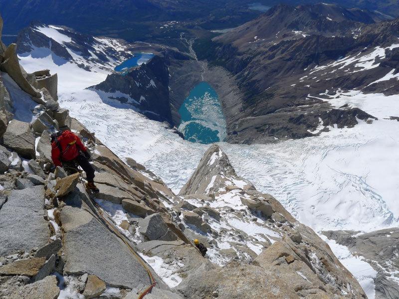 Aguja Poincenot, Patagonia. Uscita del tratto di misto, Christian Türk