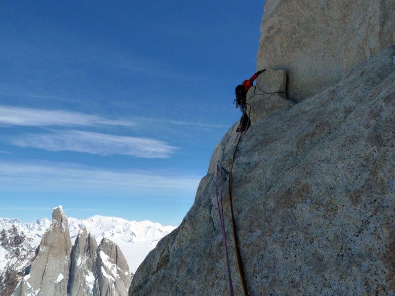 Aguja Poincenot, Patagonia. Sui tiri di roccia, Marcello Sanguineti