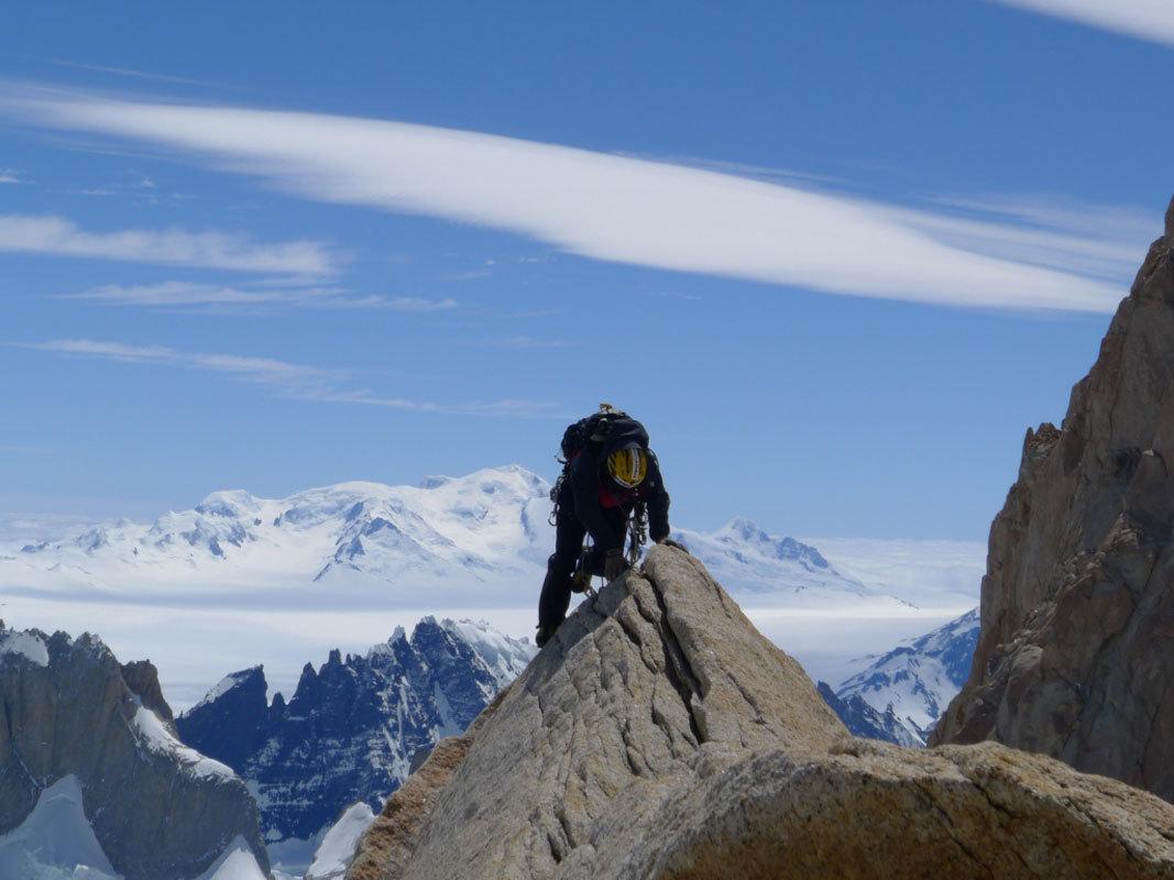 Aguja Poincenot, Patagonia. Uscita sulla cresta di vetta, Damiano Barabino