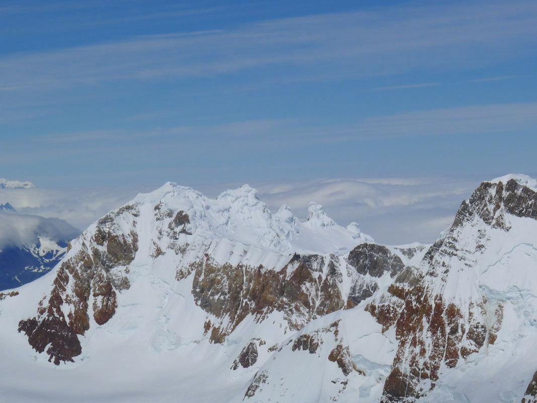Aguja Poincenot, Patagonia. Il Cerro Grande, con le sue meringhe sommitali, Damiano Barabino