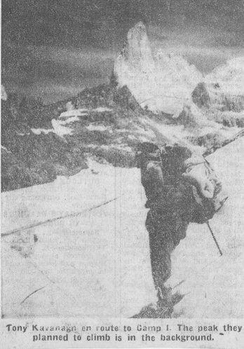 Spedizione 1962 - Verso il Campo 1, fonte Irish Indipendent