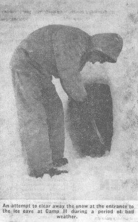 Spedizione 1962 - Ingresso della cueva, fonte Irish Indipendent