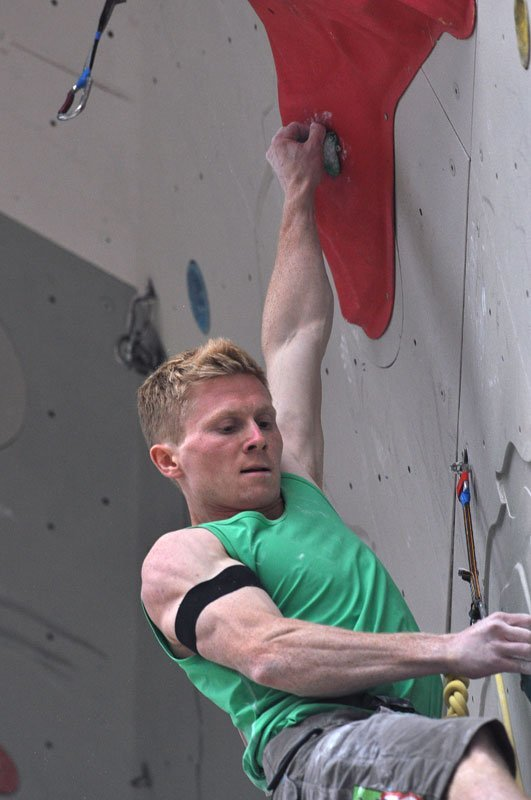 The Norwegian climber Magnus Midtboe during the Arco 2011 Climbing World Championship., Giulio Malfer