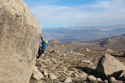 Jorg Verhoeven on Mesothelioma V7, Buttermilks, Bishop, USA, Katharina Saurwein