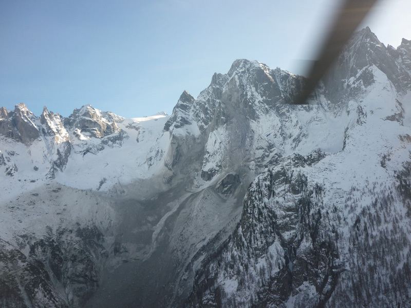 The rockfall on Piz Cengalo (3369m) in Val Bondasca on 27/12/2011., archivio Marcello Negrini