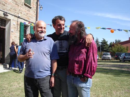 Kurt Diemberger, Mario Trimeri  e Fausto De Stefani, arch. M. Lugli