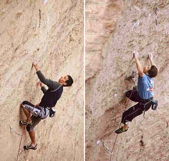 François Legrand & Yuji Hirayama sending Just do it 5.14c Smith Rock, USA, archivio Legrand
