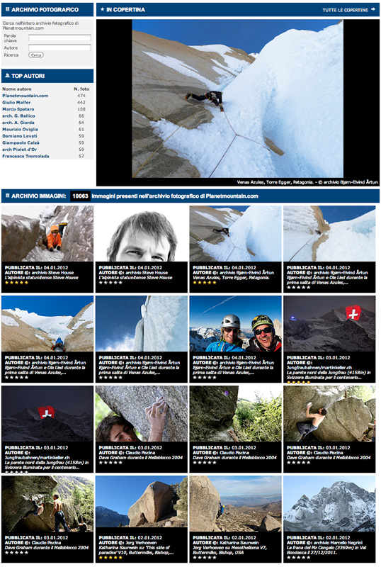 Planetmountain.com's new mountain photo gallery., planetmountain
