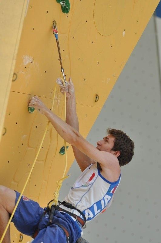 Stefano Ghisolfi durante il Campionato del Mondo 2011 ad Arco, Giulio Malfer
