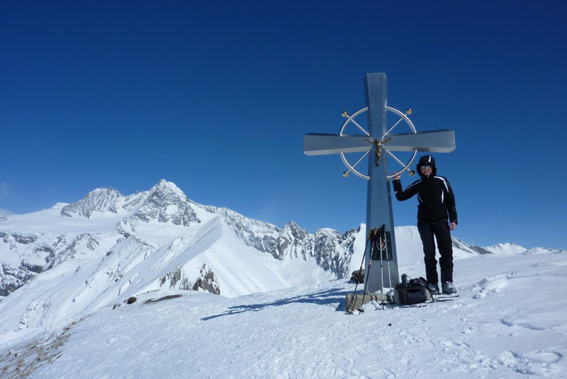 Figerhorn (2743m): on the summit, with Grossglockner in the background., Guide Alpine Kals am Großglockner