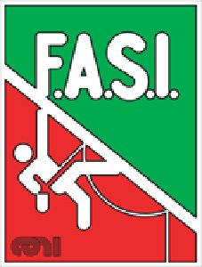 The logo of the Italian Sport Climbing Federation, F.A.S.I.
