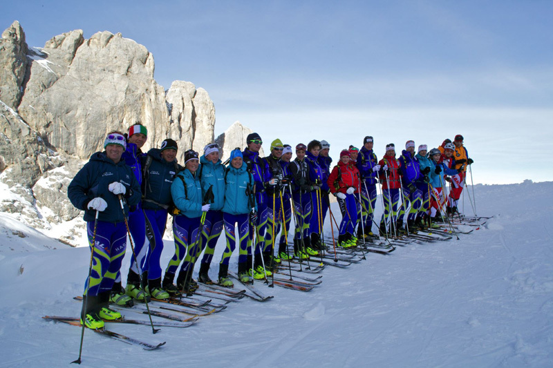 The Italian ski mountaineering squad, Scarpa