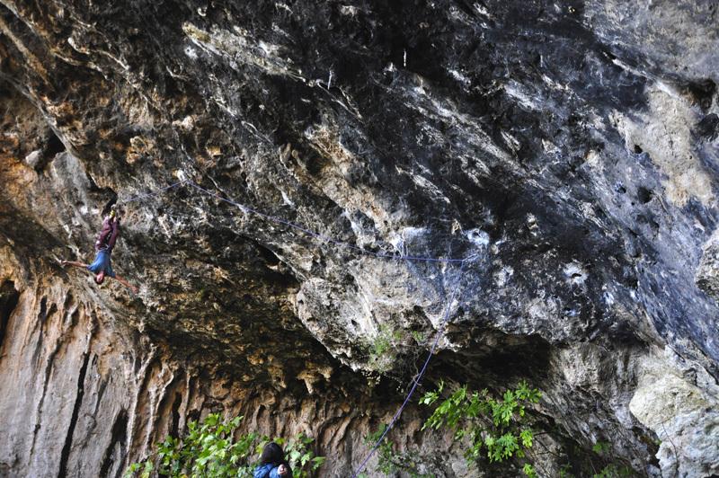 Klemen Becan climbing at El Bovedon, Gandia, archive Klemen Becan