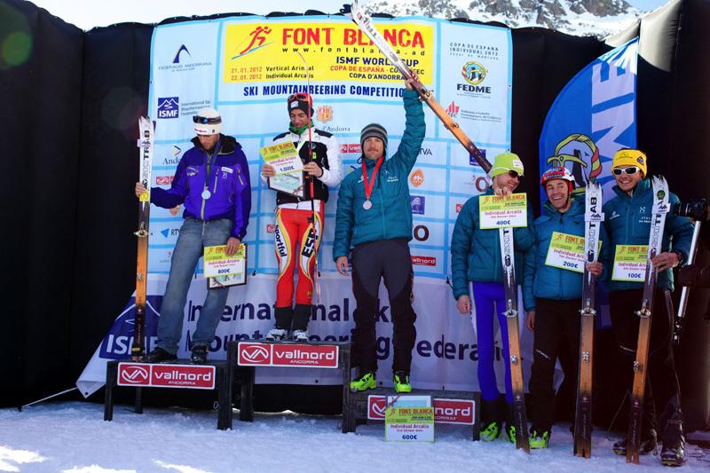 1. Kilian Jornet Burgada (ESP), 1.27.02; 2. Matteo Eydallin (ITA), 1.27.27; 3. Lorenzo Holzeknecht (ITA), 1.27.48, ISMF