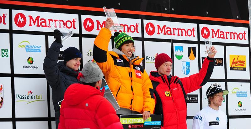 Podio maschile: Alexey Dengin, Hee Yong Park, Maxim Tomilov,