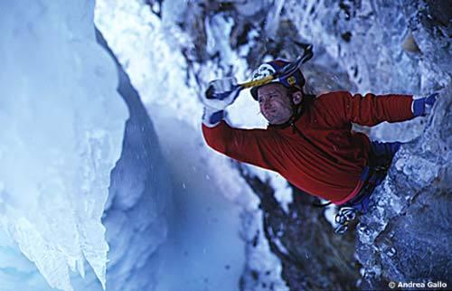 Mauro Bubu Bole climbing Twin Peaks Val di Cogne, Andrea Gallo