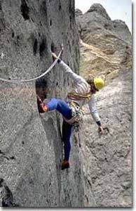 Mauro Bubu Bole climbing Specchio di Sara, Marmolada, Dolomites., archivo Bole