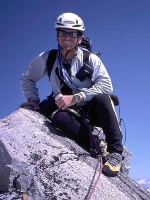 Gianluca Bellin on the summit of Serra 2, Boscolo / Bellin