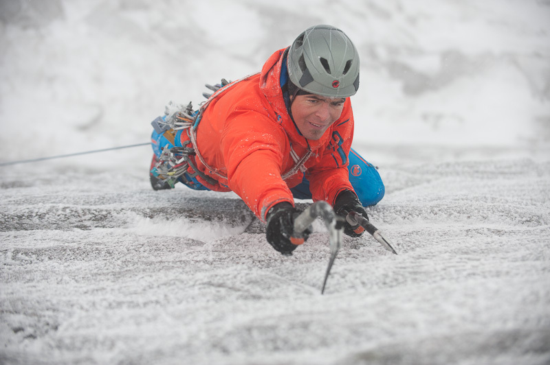 Dani Arnold repeating The Hurting XI 11 at Coire an t-Sneachda in Scotland., Thomas Senf