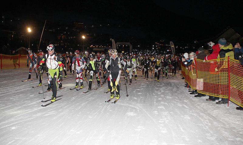 La partenza da Corvara della 17a edizione della Sellaronda Skimarathon 2012, NewsPower