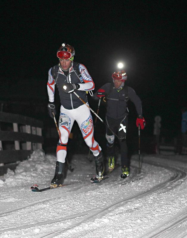 I vincitori Michele Boscacci e Lorenzo Holzknecht in azione nella 17a edizione della Sellaronda Skimarathon 2012, NewsPower