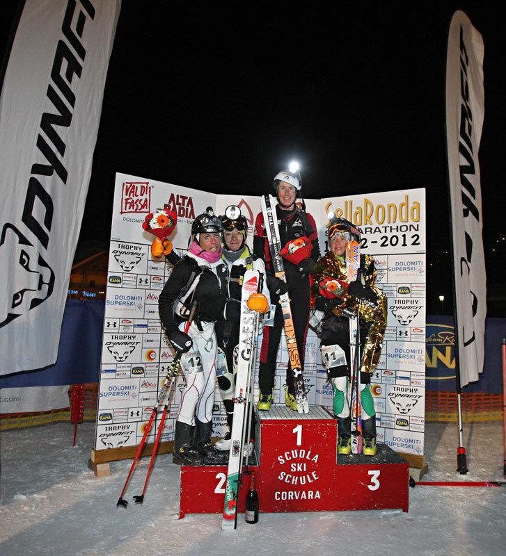 Il podio femminile della 17a edizione della Sellaronda Skimarathon 2012, NewsPower