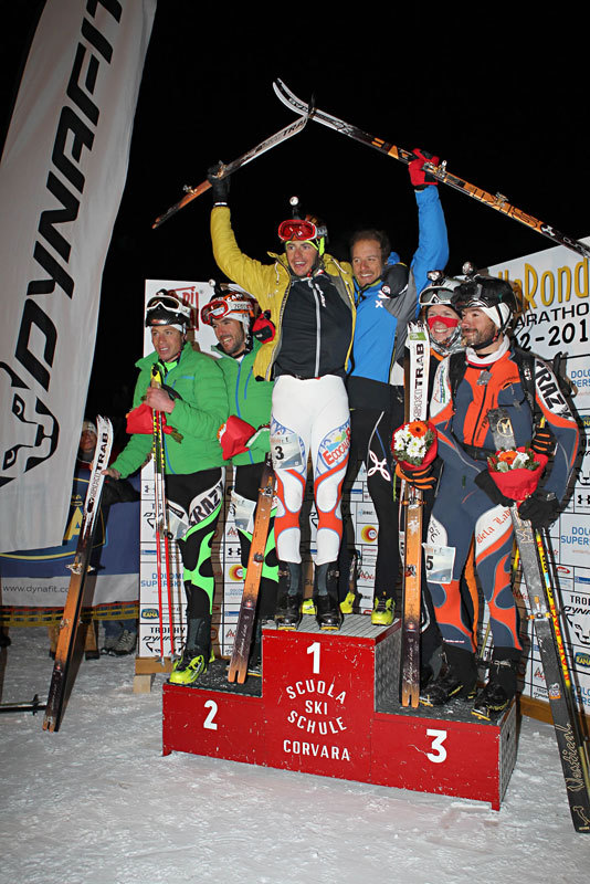 Il podio maschile della 17a edizione della Sellaronda Skimarathon 2012, NewsPower