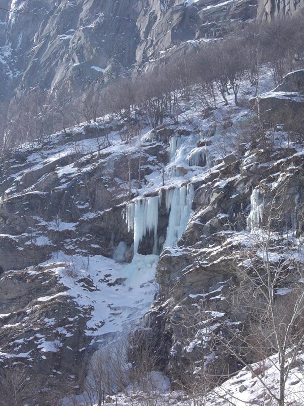 La cascata Prometeo in Vallone di Sea, Giancarlo Maritano